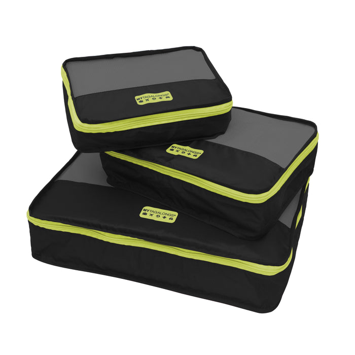 PACKING PODS - BLACK/LIME