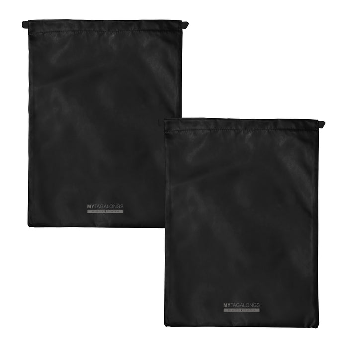 SET OF 2 DRAWSTRING BAGS - ODYSSEY BLACK