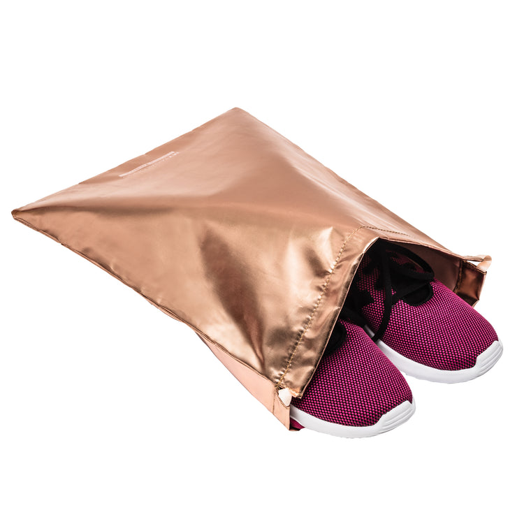 SET OF 2 DRAWSTRING BAGS - ODYSSEY ROSE GOLD