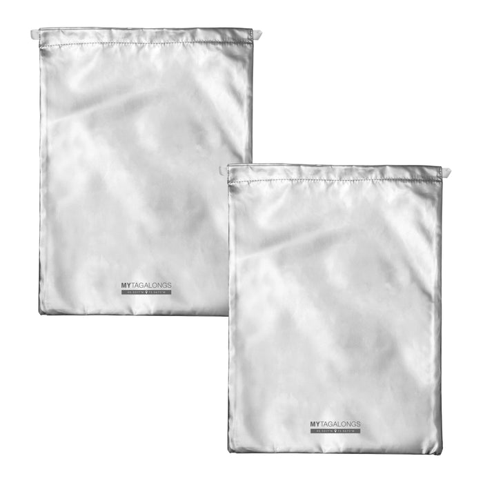 SET OF 2 DRAWSTRING BAGS - ODYSSEY SILVER