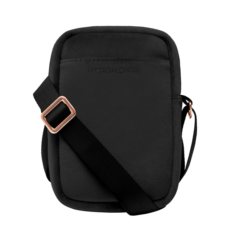 MINI CROSS BODY - VIXEN BLACK (velour finish)