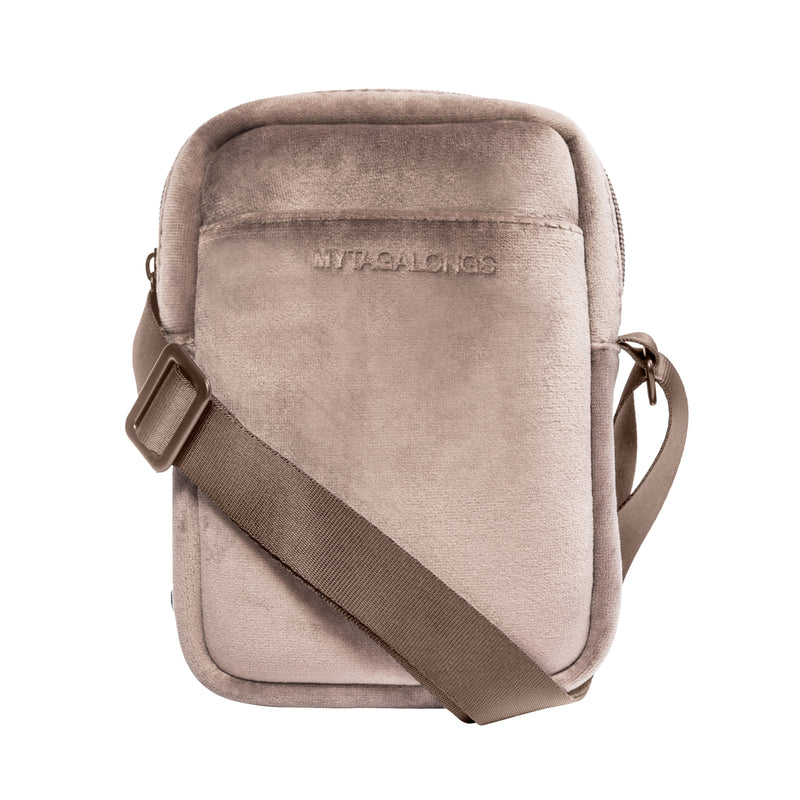 MINI CROSS BODY - VIXEN FAWN (velour finish)