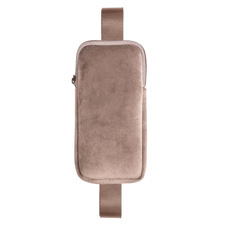 PHONE SLING CROSS BODY - VIXEN FAWN (velour finish)