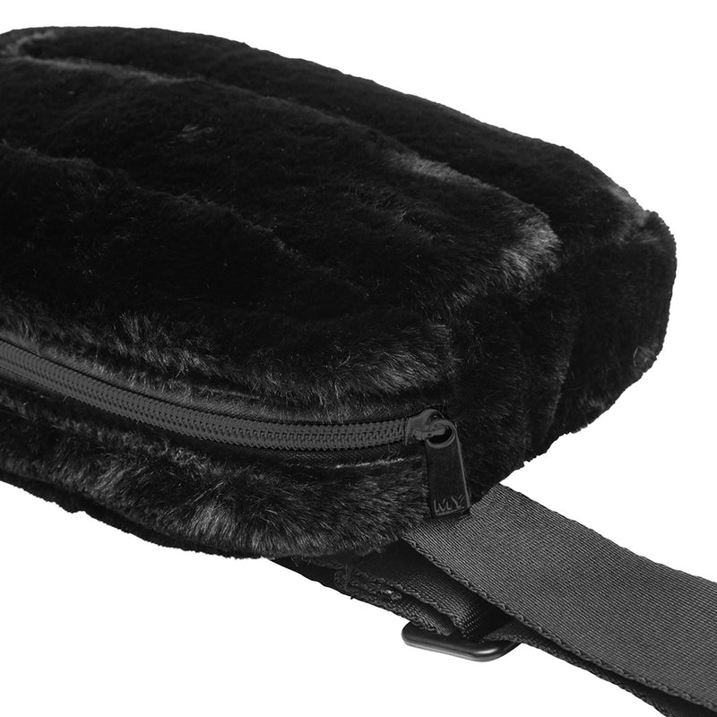 SYDNEY BELT BAG - MINX BLACK (faux fur)