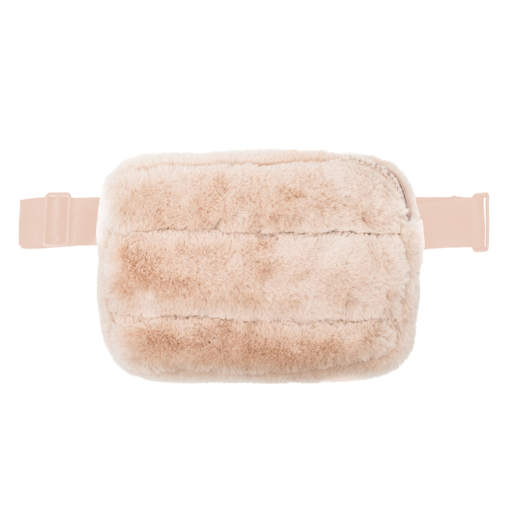 SYDNEY BELT BAG - MINX CREAM (faux fur)