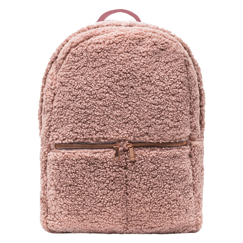 BACKPACK - HARLOW BLUSH (teddy bear fur)