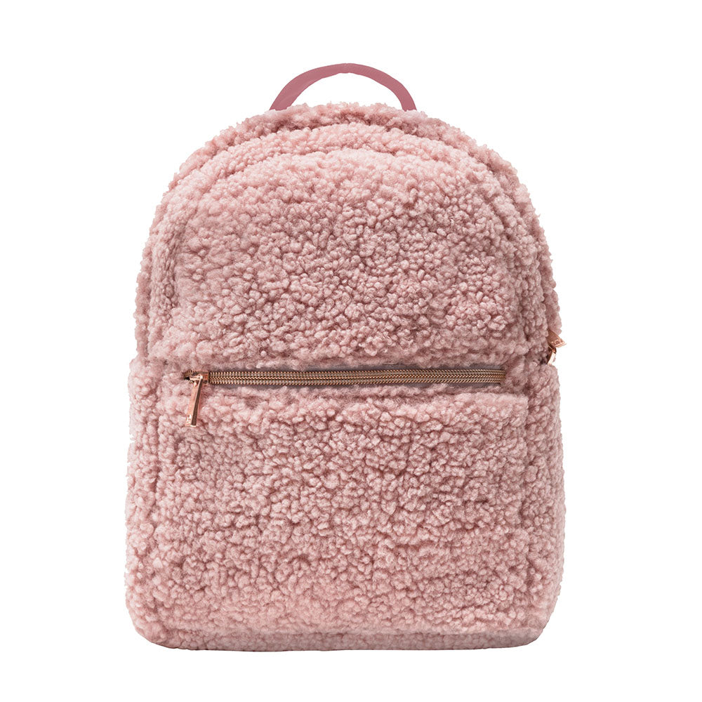 MINI BACKPACK - HARLOW BLUSH (teddy bear fur)