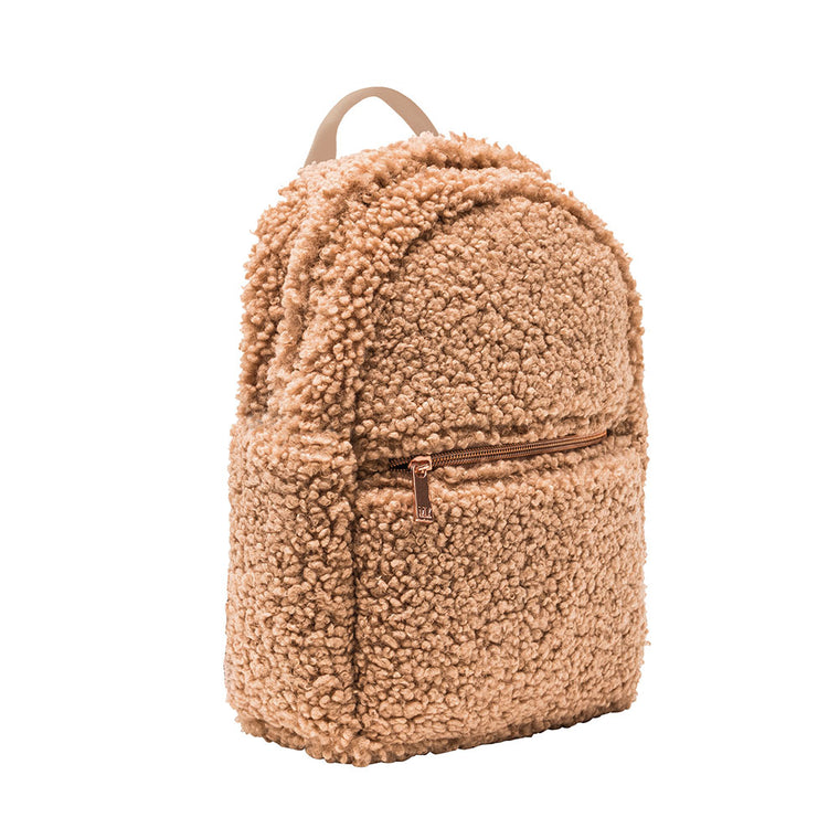 MINI BACKPACK - HARLOW FAWN (teddy bear fur)