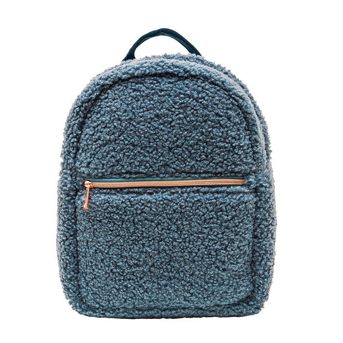 MINI BACKPACK - HARLOW STEEL (teddy bear fur)