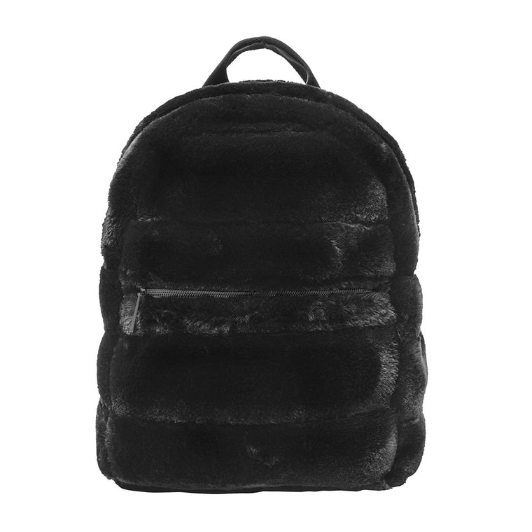 MINI BACKPACK - MINX BLACK (faux fur)