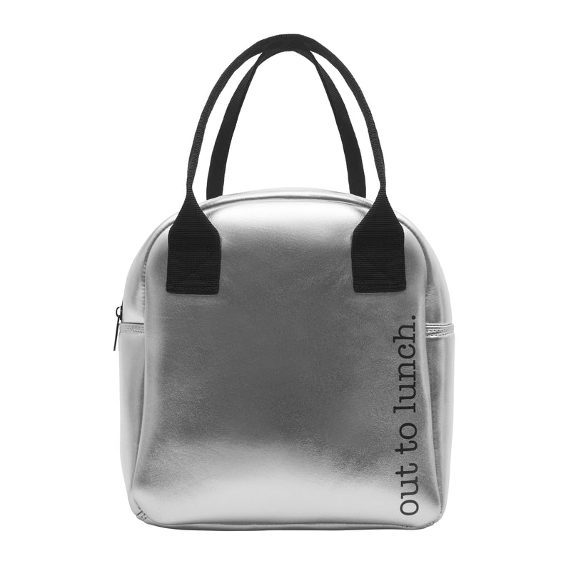 FOODIE LUNCH TOTE - OUT TO LUNCH PEWTER