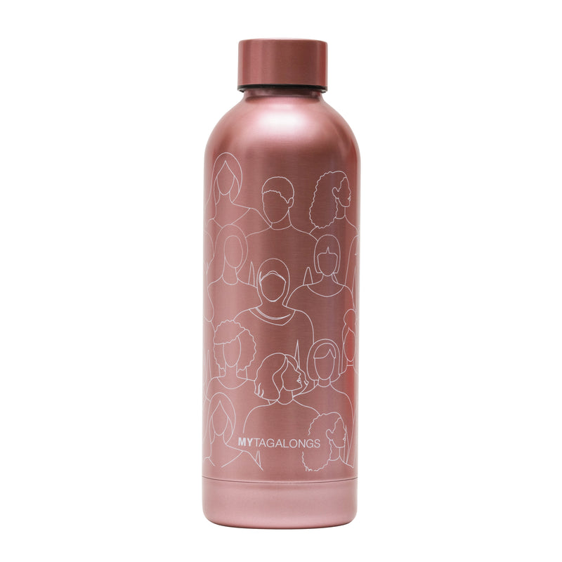 WATER BOTTLE - BECAUSE I AM A GIRL PINK