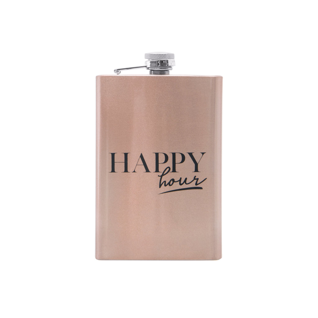 FIESTA FLASK - ROSE GOLD (BOXED SET)