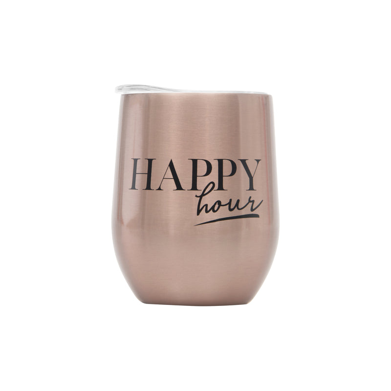 SET OF 2 WINE CUPS - ROSE GOLD (BOXED SET)