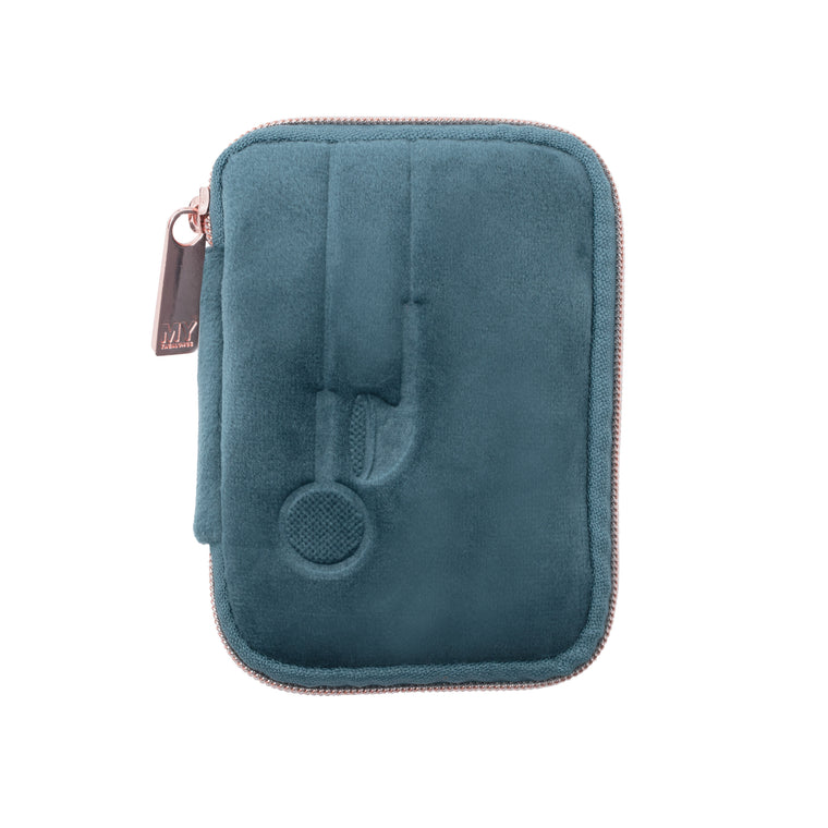 EAR BUD CASE - VIXEN INDIGO (velour finish)