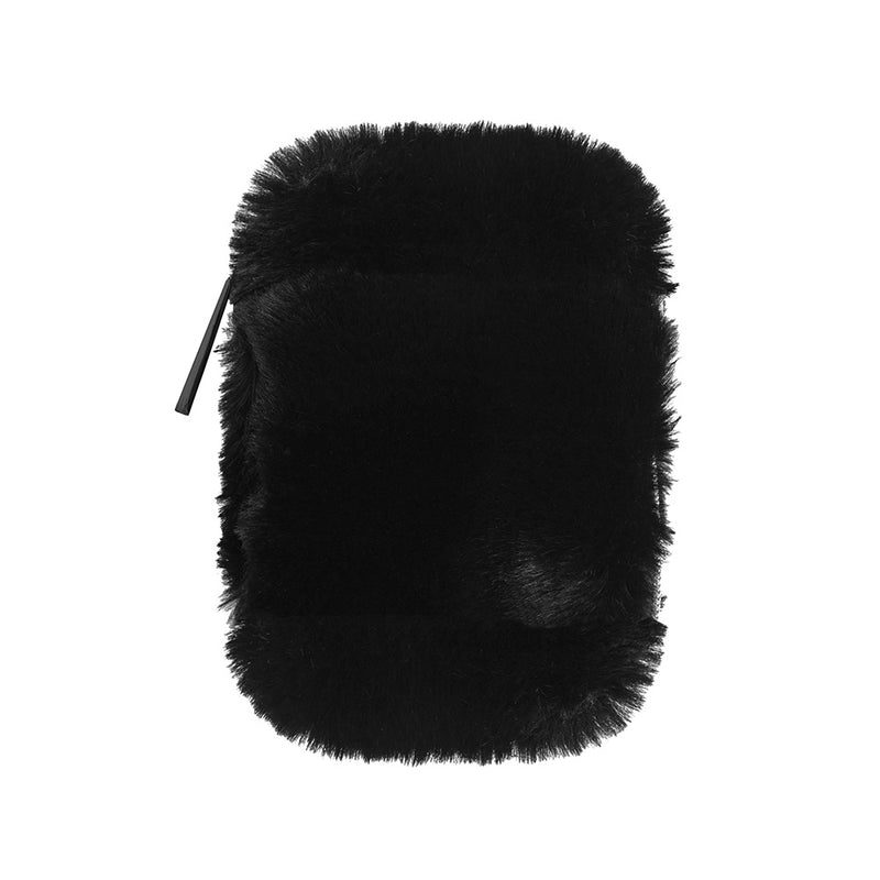 EAR BUD CASE - MINX BLACK (faux fur)