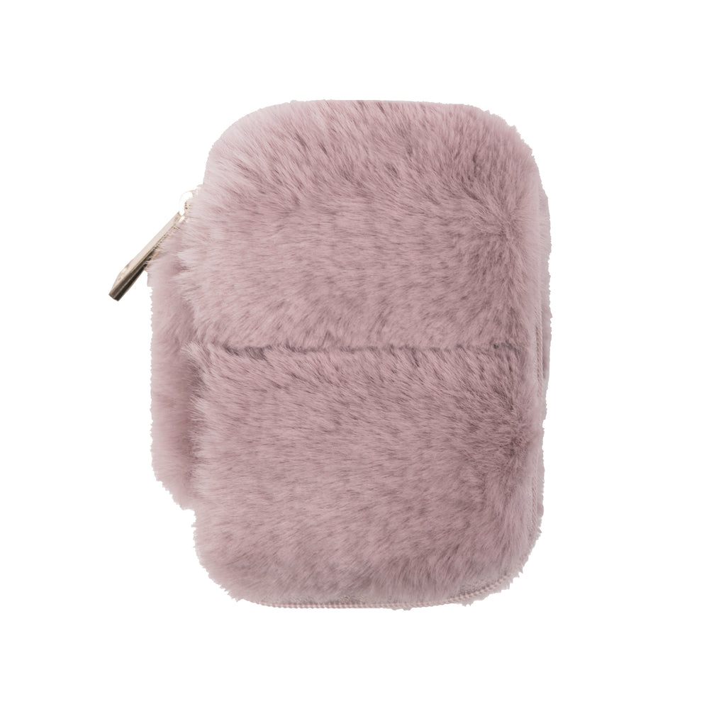 EAR BUD CASE - MINX LILAC (faux fur)