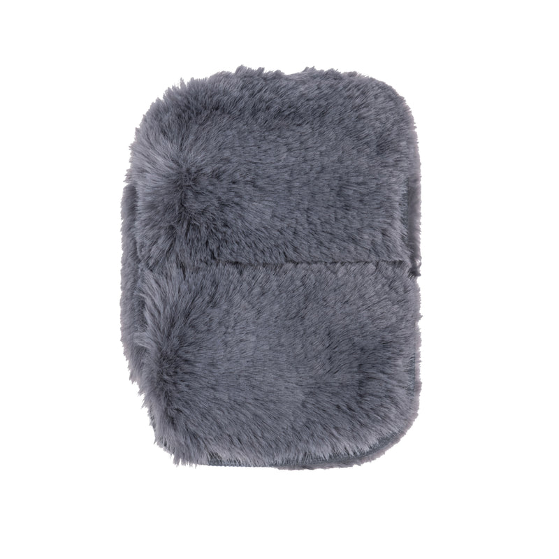 EAR BUD CASE - MINX SMOKE (faux fur)