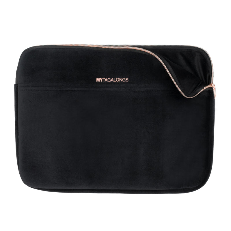 LAPTOP SLEEVE - VIXEN BLACK (velour finish)