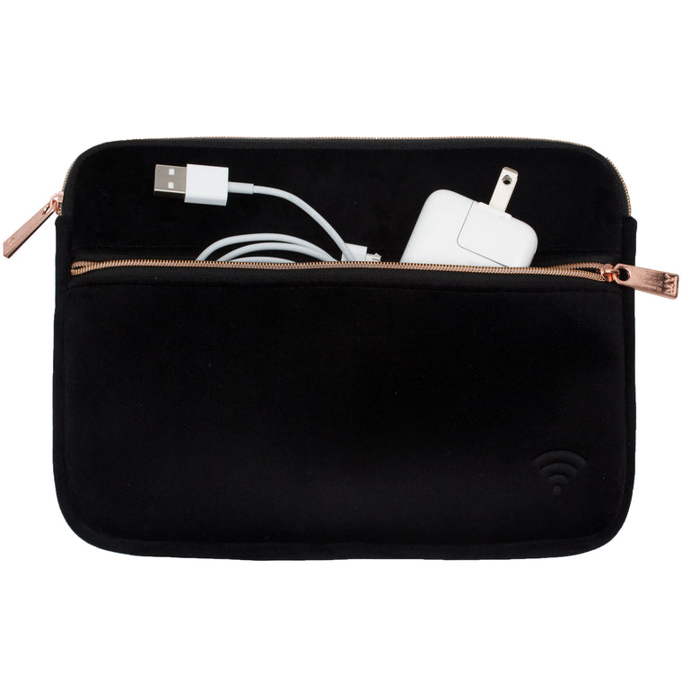 TECH ORGANIZING POUCH - VIXEN BLACK (velour finish)