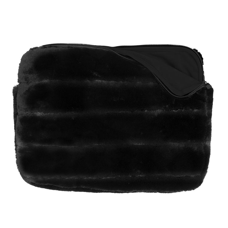 LAPTOP SLEEVE - MINX BLACK (faux fur)
