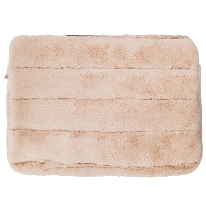 LAPTOP SLEEVE - MINX CREAM (faux fur)