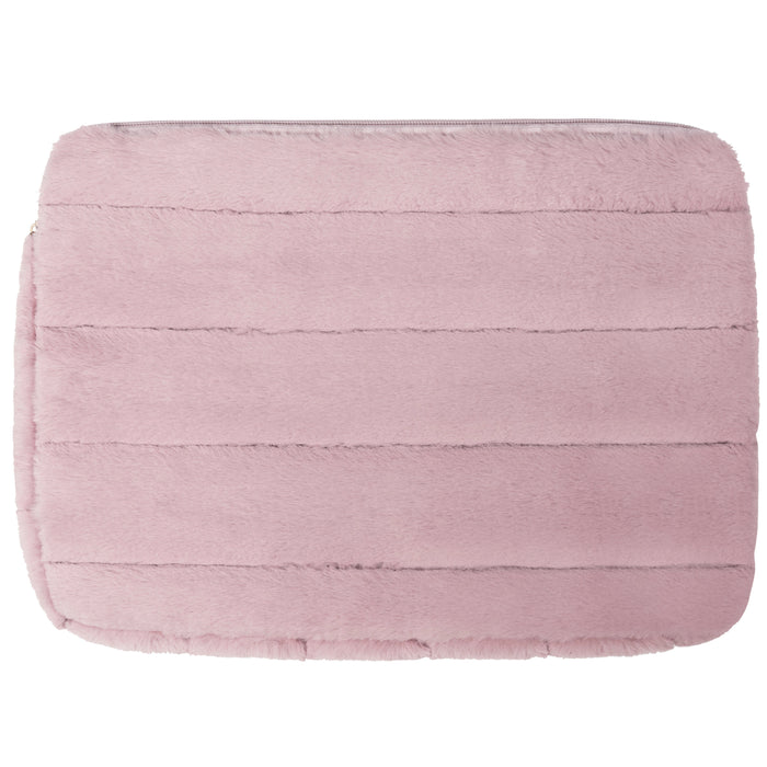 LAPTOP SLEEVE - MINX LILAC (faux fur)