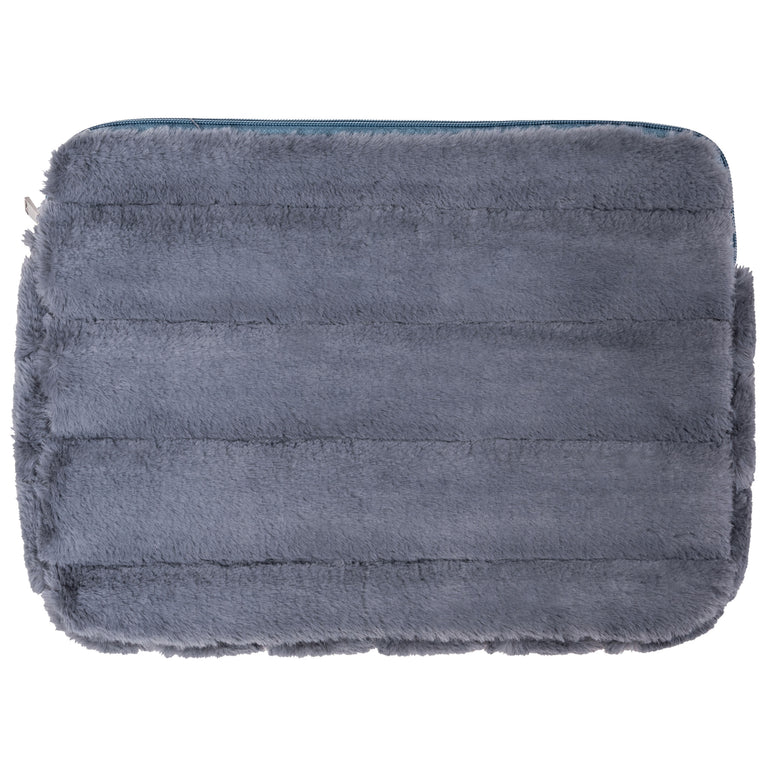 LAPTOP SLEEVE - MINX SMOKE (faux fur)