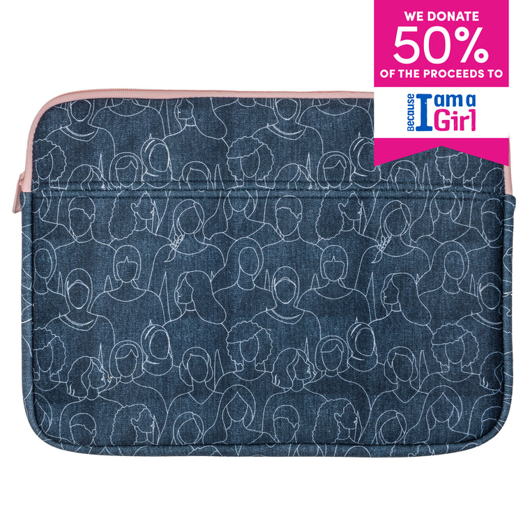 LAPTOP SLEEVE - BECAUSE I AM A GIRL