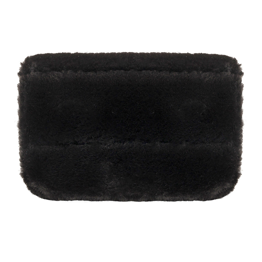 CHARGER CASE - MINX BLACK (faux fur)