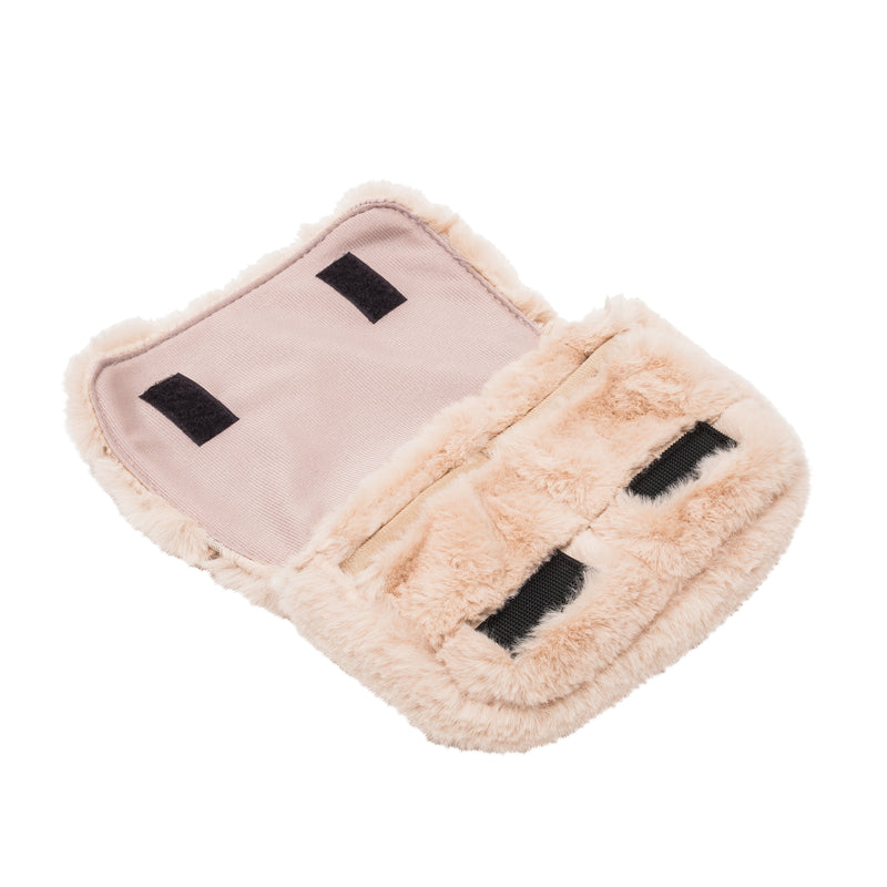 CHARGER CASE - MINX CREAM (faux fur)