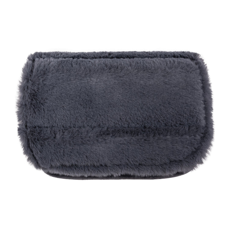 CHARGER CASE - MINX SMOKE (faux fur)