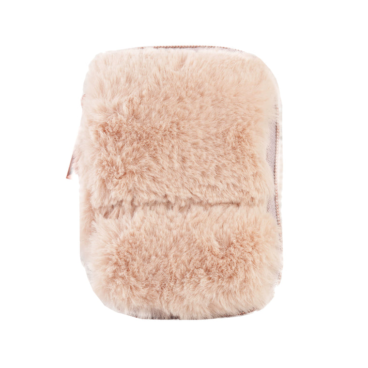 EAR BUD CASE - MINX CREAM (faux fur)