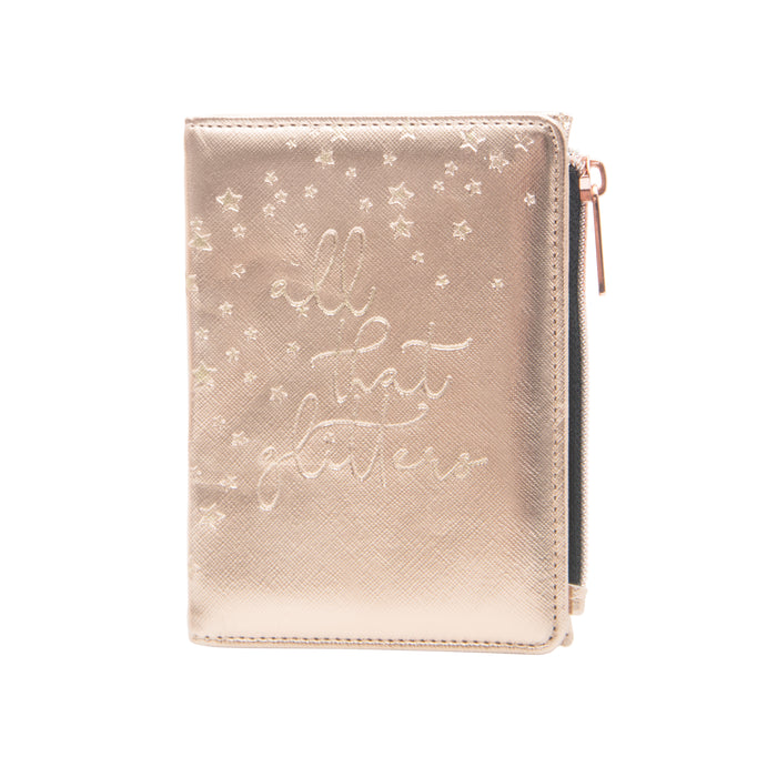 PASSPORT WALLET & LUGGAGE TAG - ROSE GOLD (BOXED SET)
