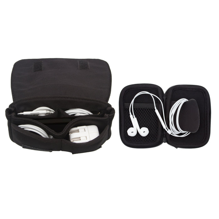 CHARGER CASE & EAR BUD CASE - BLACK (BOXED SET)
