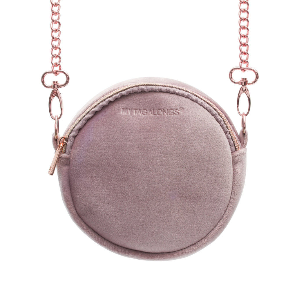 VIXEN ROUNDIE CROSS BODY - DUSTY LILAC (velvet finish)