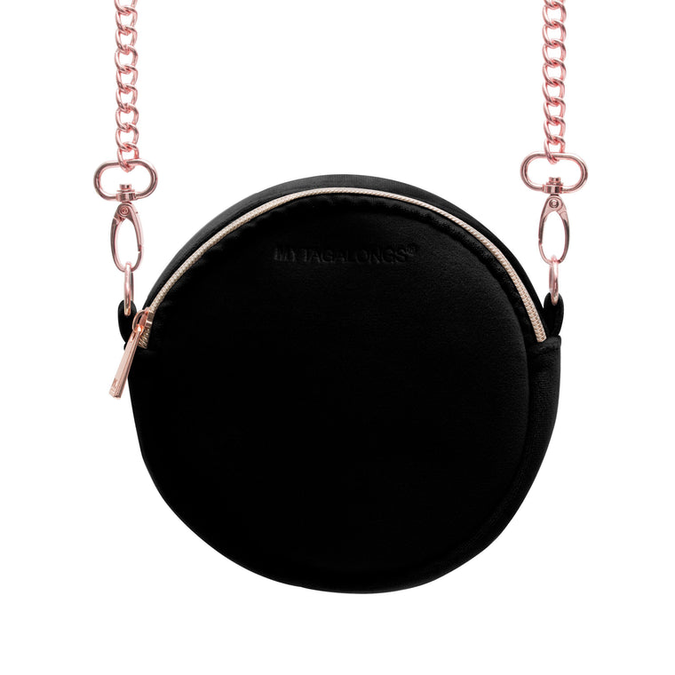 ROUNDIE CROSS BODY - VIXEN BLACK (velour finish)