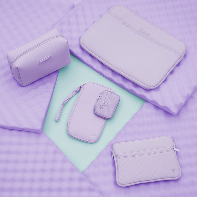 TRAVEL DOCUMENT CADDY - ST. BARTHS LILAC