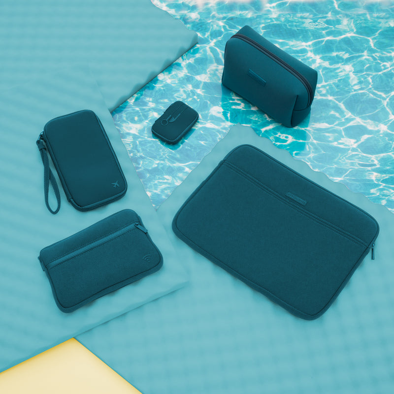 TECH ORGANIZING POUCH - ST. BARTHS TEAL