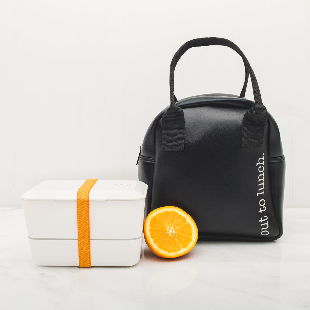 FOODIE LUNCH TOTE - OUT TO LUNCH BLACK