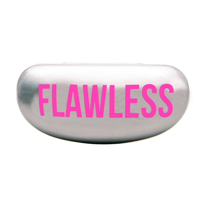 HARD SUNGLASS CASE - FLAWLESS/SILVER