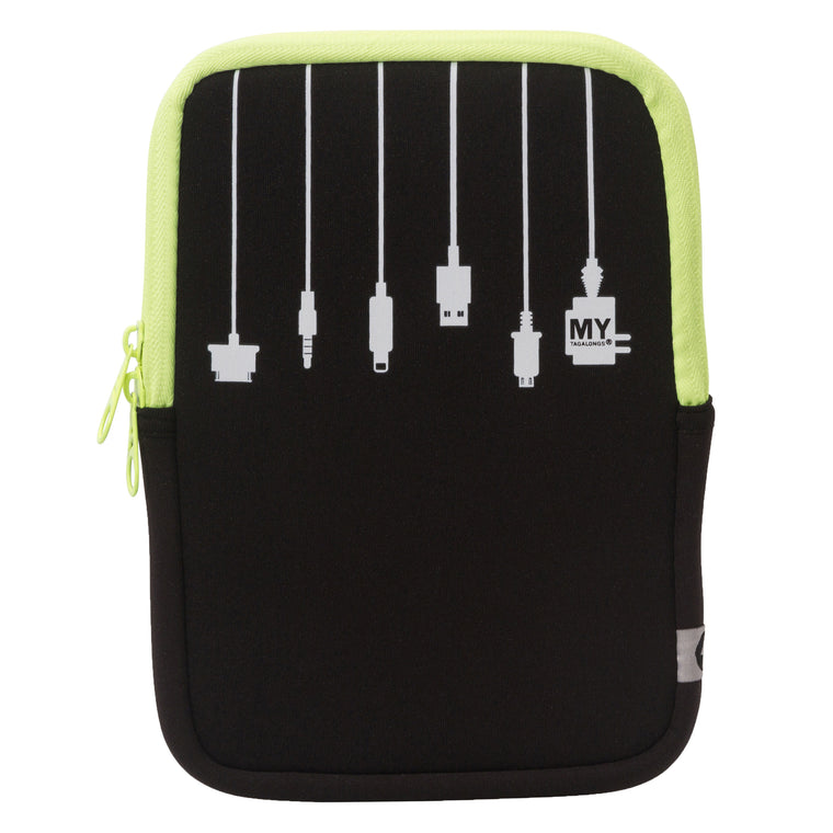 2 IN 1 TABLET SLEEVE AND STAND - PLUG IN LIME (medium)