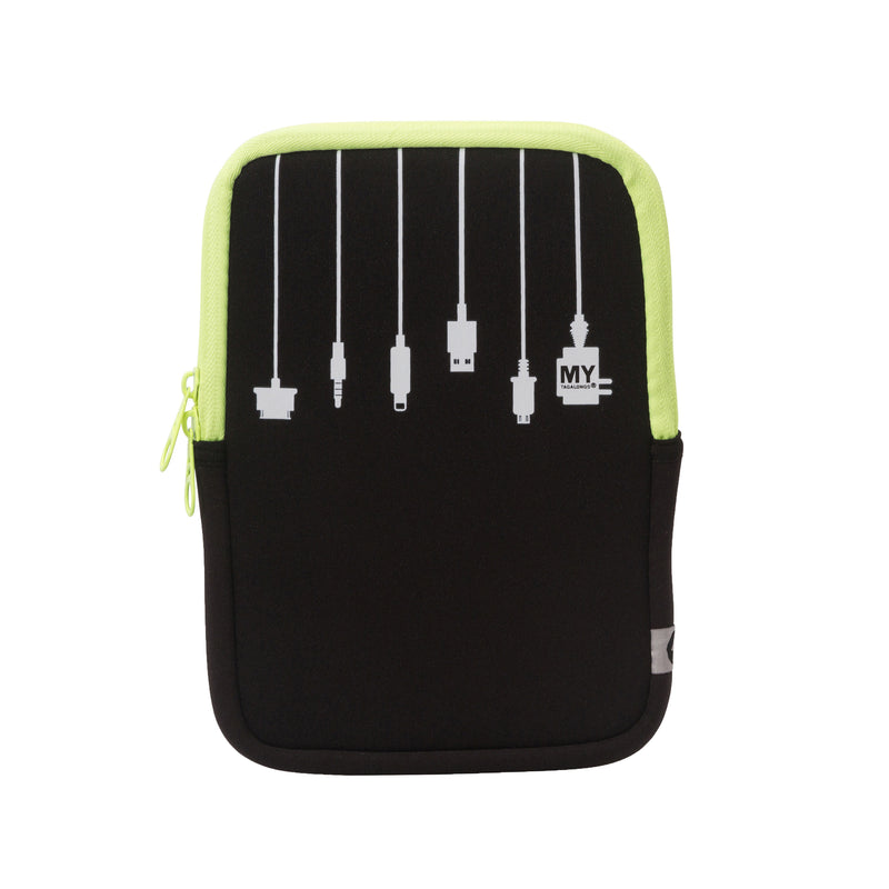 TABLET SLEEVE AND STAND 2 IN 1 - PLUG IN LIME (small)