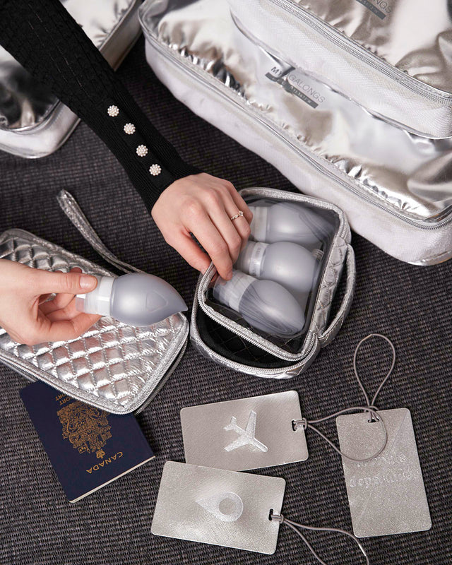SILICONE TRAVEL BOTTLES - ODYSSEY SILVER