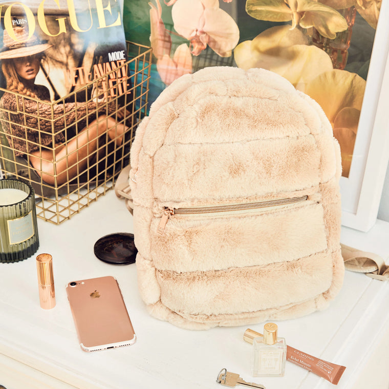 MINI BACKPACK - MINX CREAM (faux fur)