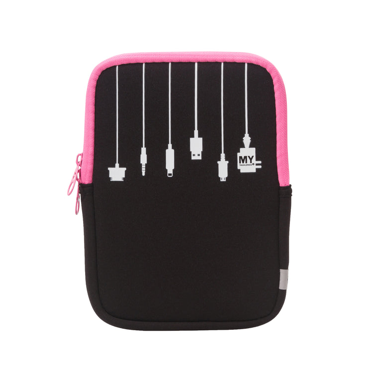 2 in 1 Tablet Sleeve and Stand - Plug In Pink (Small)