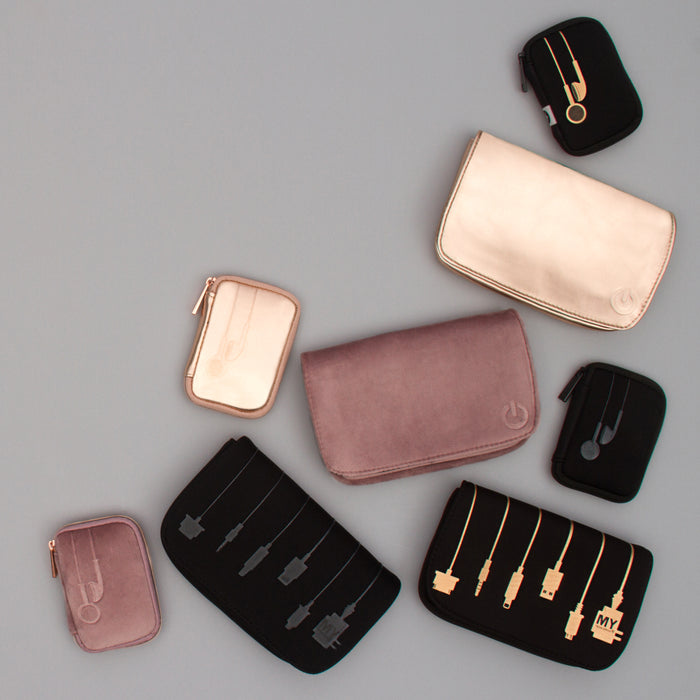 CHARGER CASE - PLUG IN METALLIC ROSE GOLD