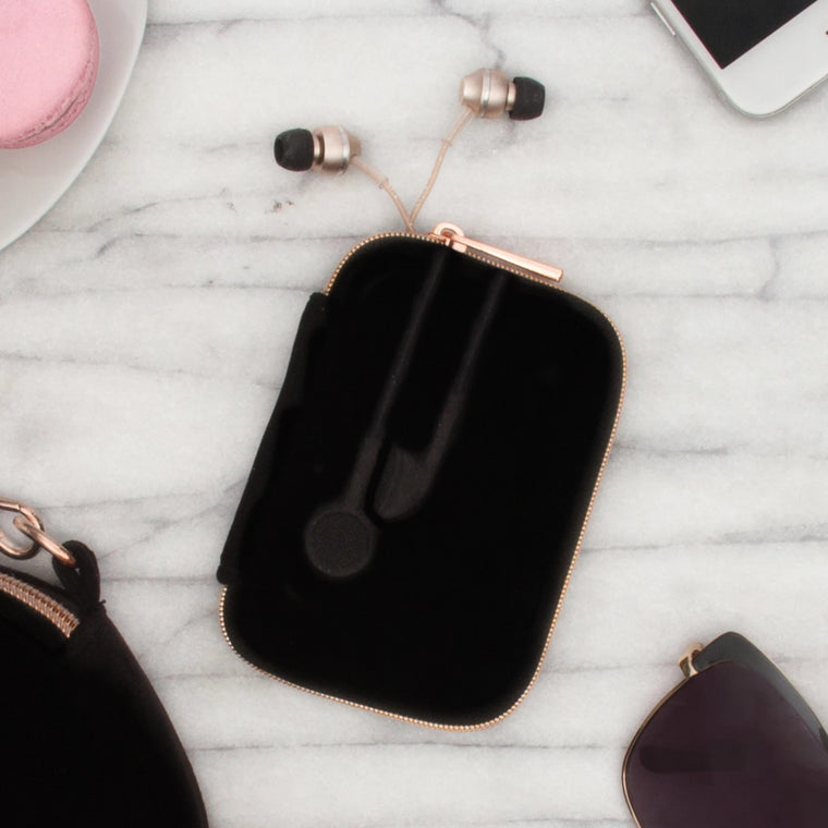 EAR BUD CASE - VIXEN BLACK (velour finish)