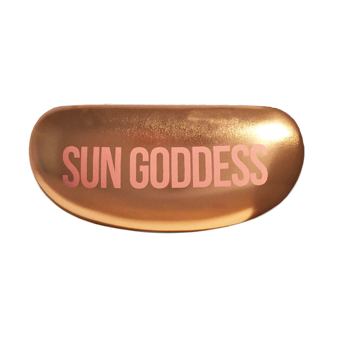HARD SUNGLASS CASE - SUN GODDESS/ROSE GOLD