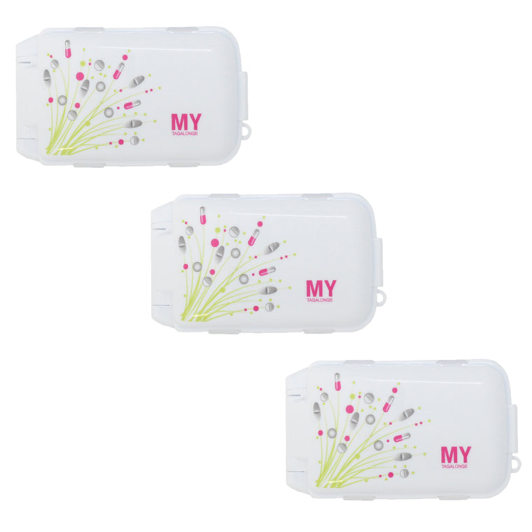 SET OF 3 VITAMIN PODS - PILL BOUQUET WHITE